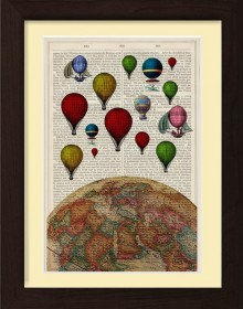 Balloons On Top Of The World Print