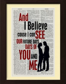 Pearl Jam Future Days Lyric Print