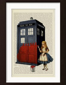 Alice Paints The Tardis Red Print