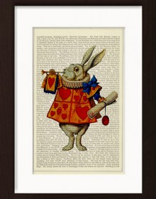 Alice In Wonderland White Rabbit Print