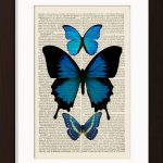 Blue Butterflies Collection Of 3 print