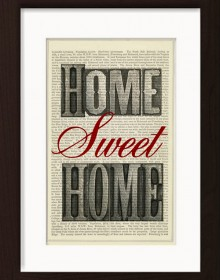 Home Sweet Home Print Typography Print