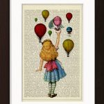 Alice In Wonderland Releases Hot Air Balloons Print