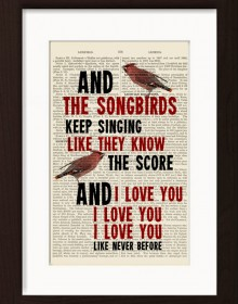 Fleetwood Mac Songbird Print