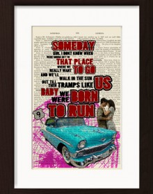 Bruce Springsteen Born To Run Print
