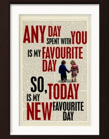 Winnie The Pooh Any Day Spent With You Is My Favourite Day Print