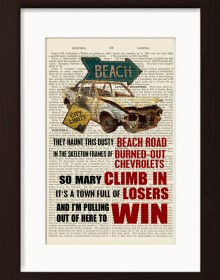 Bruce Springsteen Thunder Road Print