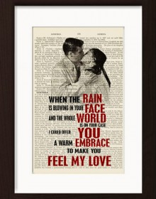 Bob Dylan Adele Make Me Feel Your Love Print