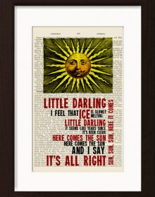 The Beatles Here Comes The Sun Print
