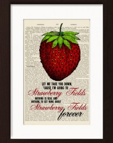 The Beatles Strawberry Fields Forever Print