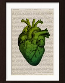 Anatomical Green Heart print