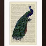 Peacock Perched On Tree print