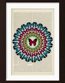 Butterfly Circle print