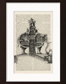 Elephant Fantasy Architectural Monument print