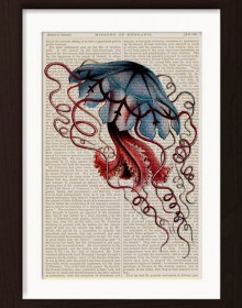 Ernst Haeckel Blue Jelly Fish 2 print