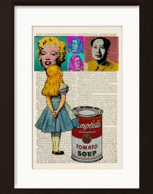 Alice Meets Andy Warhol's Chairman Mao Marilyn Monroe And Herself Print