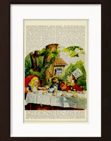 Alice In Wonderland Tea Party With Rabbit And Madhatter Print