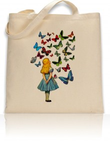 Tote Bag Alice Watching Butterflies Print