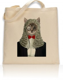 Tote Bag Cat Judge Print