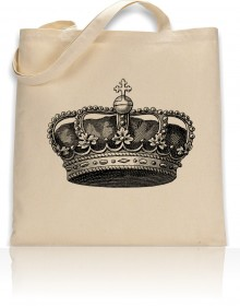 Tote Bag Crown Print