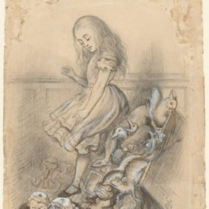 Alice in Wonderland John Tenniel's first draft of 'Alice Upsets The Jury Box'
