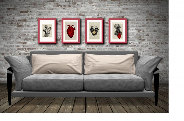 Red Anatomy Prints