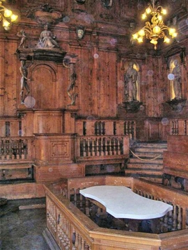 The  anatomical theatre at the University of Padua in 1594
